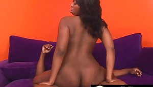 Cock hungry black girls find worthwhile taking thick and stiff dicks far cowgirl and bouncing their broad in the beam butts