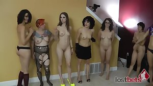 Strip Spinner with Ten Girls
