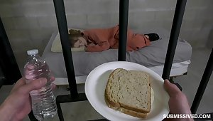 Prison whore Cleo Clementine gives a blwojob and gets fucked be beneficial to bread and strongest