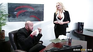 Wild sex on the office food with delicious secretary Jessica Nyx